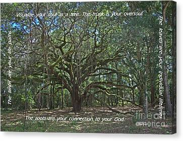 Soul Tree Canvas Print by Dodie Ulery