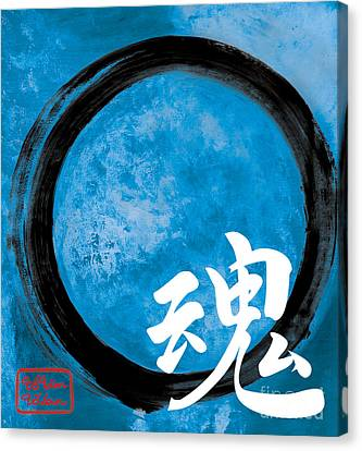 Soul - Zen Enso Canvas Print by To-Tam Gerwe