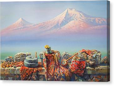 Soulful And Colorful Ararat Canvas Print