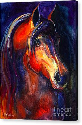 Rodeo Canvas Print - Soulful Horse Painting by Svetlana Novikova