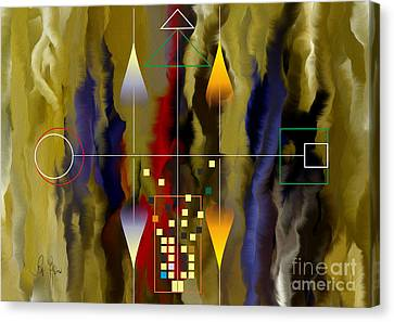 Souls Of The City Canvas Print by Leo Symon