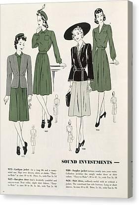 Sound Investments, C.1940 Canvas Print