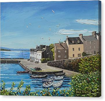 Sound Of Seagulls Roundstone Connemara Ireland Canvas Print by Diana Shephard