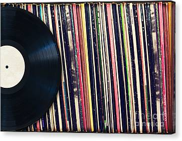 Sound Of Vinyl Canvas Print by Delphimages Photo Creations