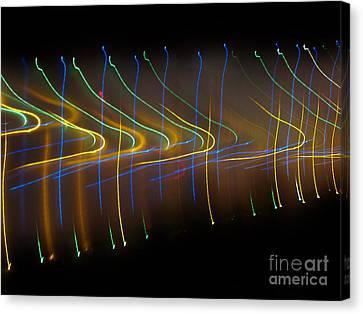 Soundcloud. Dancing Lights Series Canvas Print by Ausra Huntington nee Paulauskaite