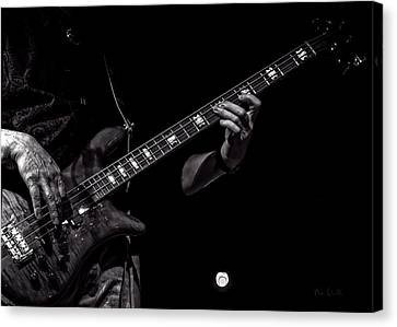 Canvas Print featuring the photograph Sounds In The Night Bass Man by Bob Orsillo