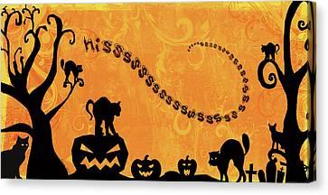 Sounds Like Halloween Iv Canvas Print by Belinda Aldrich
