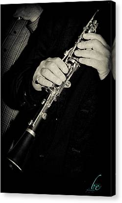 Sounds Of A Clarinet Canvas Print by Bonnes Eyes Fine Art Photography