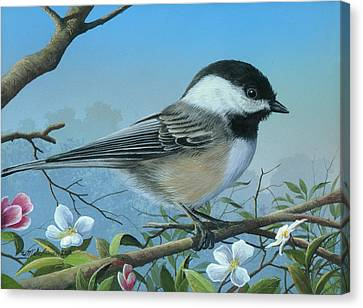 Canvas Print featuring the painting Sounds Of Spring by Mike Brown