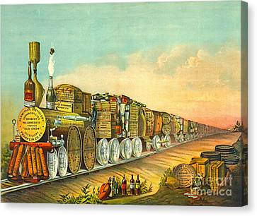 Sour Mash Express 1877 Canvas Print by Padre Art