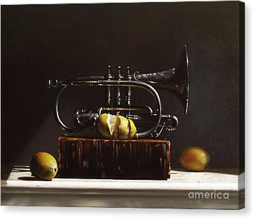 Sour Notes Canvas Print by Larry Preston