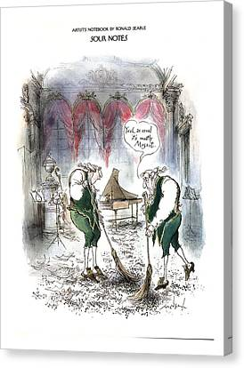 Sour Canvas Print - Sour Notes 'yeah by Ronald Searle
