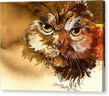 Sour Puss Canvas Print by Sherry Shipley