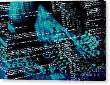 Source Code Canvas Print by Peter Gudella