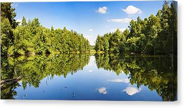 Source Of The Neckar River Canvas Print by Panoramic Images