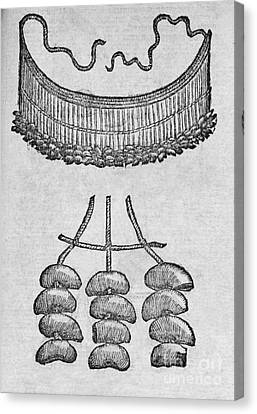 Soursop Seed Necklace, 16th Century Canvas Print