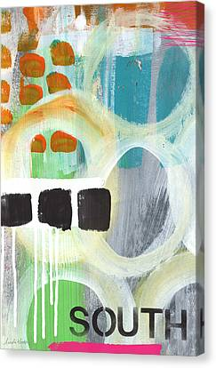 South- Abstract Expressionist Art Canvas Print by Linda Woods