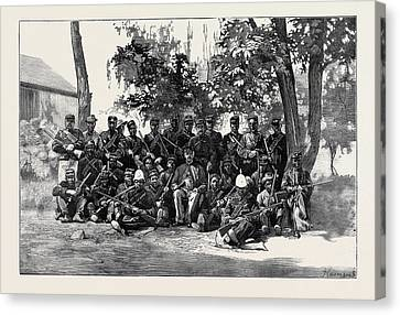 South Africa Basuto Police With Their Leader Canvas Print by South African School