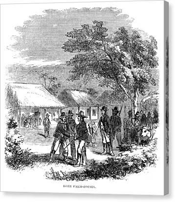 Carousel House Canvas Print - South Africa Farmhouse by Granger