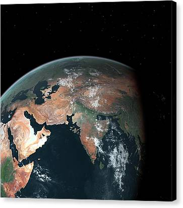 Flooding Canvas Print - South Asia With Sea Level Rise by Walter Myers