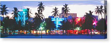 South Beach Miami Beach Florida Usa Canvas Print