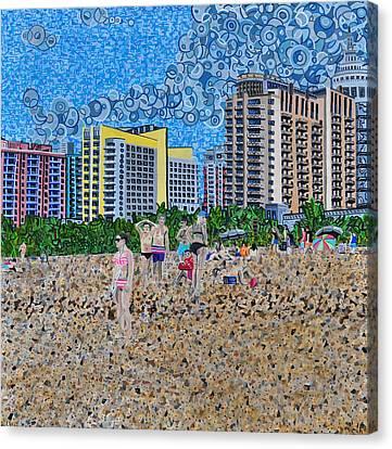 South Beach - Miami Canvas Print by Micah Mullen