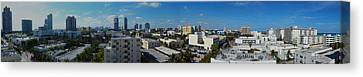 Canvas Print featuring the photograph South Beach Sofi District by J Anthony