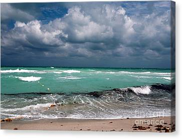 South Beach Storm Clouds Canvas Print by John Rizzuto