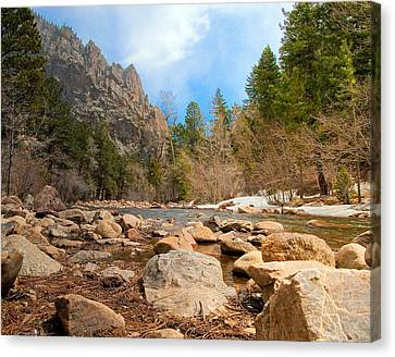 Canvas Print featuring the photograph South Boulder Creek - Eldorado Canyon State Park by Tom Potter