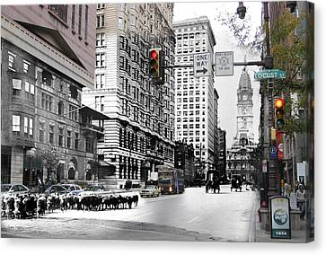 South Broad Street Sheep Canvas Print by Eric Nagy