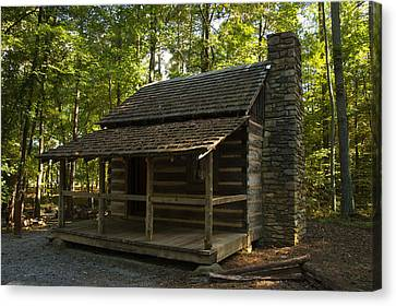 Log Cabin Canvas Print - South Carolina Log Cabin by Chris Flees