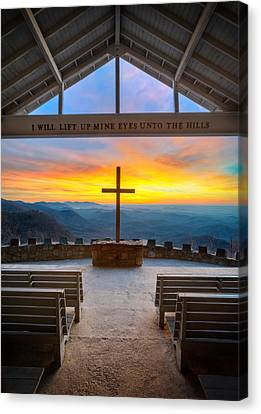 South Carolina Pretty Place Chapel Sunrise Embraced Canvas Print by Dave Allen