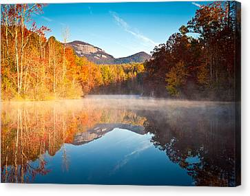 South Carolina Table Rock State Park Autumn Sunrise - Balance Canvas Print by Dave Allen