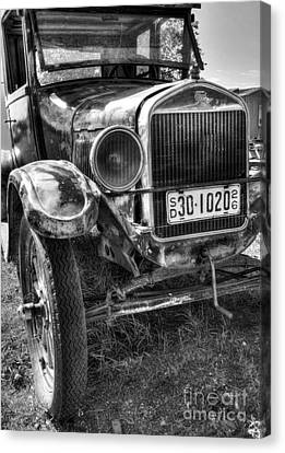 South Dakota Classic Bw Canvas Print by Mel Steinhauer