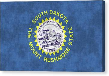 South Dakota Flag Canvas Print