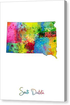 South Dakota Map Canvas Print