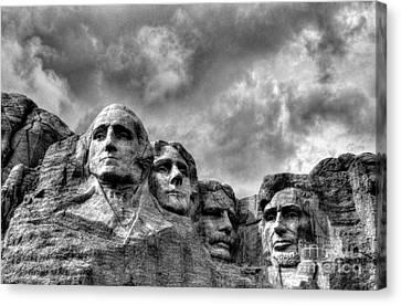 South Dakota Rocks 2 Bw Canvas Print by Mel Steinhauer