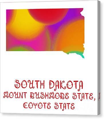 South Dakota State Map Collection 2 Canvas Print