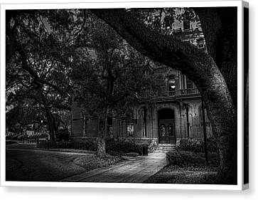 South Entry Black And White Canvas Print by Marvin Spates