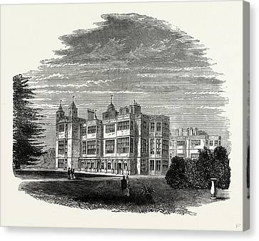 South Front, Audley End, Uk, England, Engraving 1870s Canvas Print by Litz Collection