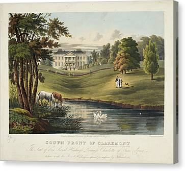 South Front Of Claremont Canvas Print by British Library