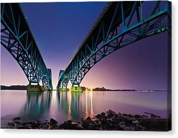Canvas Print featuring the photograph South Grand Island Bridge by Mihai Andritoiu