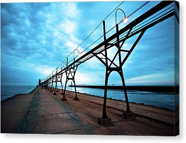 South Haven Lighthouse Canvas Print by Sebastian Musial
