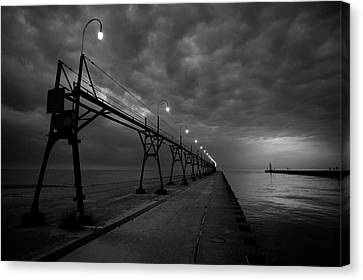 South Haven Pier Canvas Print by Sebastian Musial