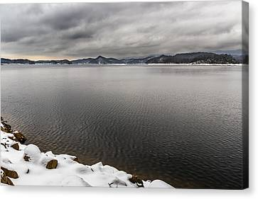 South Holston Snow Canvas Print