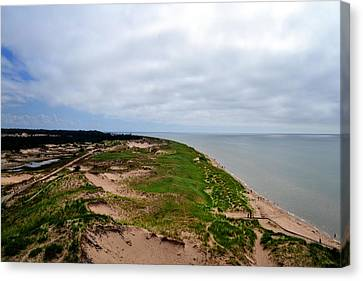 South Of Big Sable Point Canvas Print by Michelle Calkins
