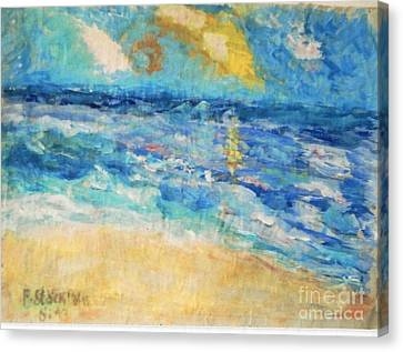 Canvas Print featuring the painting South Of France by Fereshteh Stoecklein