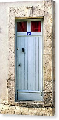 South Of France Pale Blue Door Canvas Print by Georgia Fowler