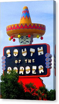 South Of The Border Motel Canvas Print by Randall Weidner