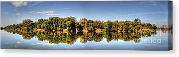 Canvas Print featuring the digital art South Of The James by Kelvin Booker